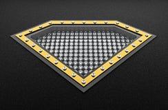 3D Rendering of Box of Diamonds Royalty Free Stock Photo