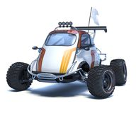 3D rendering - generic concept car. 3D rendering of a brand-less generic concept car in studio environment. Small concept ATV Stock Photography