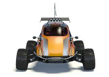 3D rendering  - Small concept ATV. 3D rendering of a brand-less generic concept car in studio environment. Small concept ATV Royalty Free Stock Images