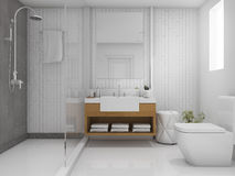 3d rendering brick minimal toilet and bathroom Stock Images