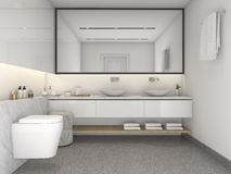 3d rendering brick minimal toilet and bathroom Royalty Free Stock Photography