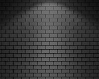 3D RENDERING OF BRICK WALL WITH SPOT LIGHT ILLUMINATION. 3D RENDERING OF PLAIN GREY BRICK WALL WITH SPOT LIGHT ILLUMINATION Stock Photos