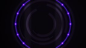 Broadcast futuristic circles. 3d rendering of the broadcast futuristic circles stock video footage