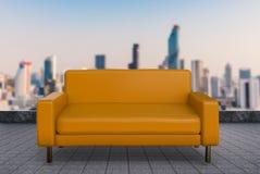 3d rendering brown sofa Stock Image