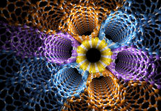 3D Rendering of Bunch of Color Nanotubes Royalty Free Stock Images