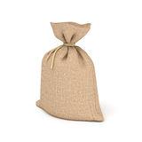 3d rendering of burlap bag isolated on white background. Royalty Free Stock Image