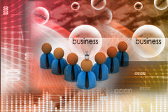 3d rendering business man icon with bulb. New idea concept Royalty Free Stock Photography