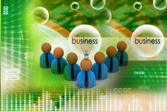 3d rendering business man icon with bulb. New idea concept Stock Photos