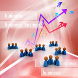 3d rendering business man icon Royalty Free Stock Photos