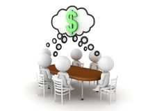 3D Rendering of business meeting. 3D Rendering isolated on white stock illustration