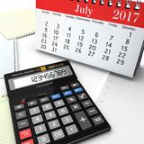 3d rendering calculator Royalty Free Stock Images