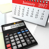 3d rendering calculator Stock Photography