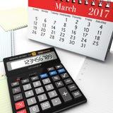 3d rendering calculator Stock Images