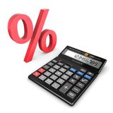3d rendering calculator. For mathematical calculations and accounting Royalty Free Stock Photo