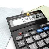 3d rendering calculator Stock Image