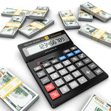 3d rendering calculator Royalty Free Stock Photos