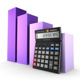 3d rendering calculator. For mathematical calculations and accounting Stock Photo