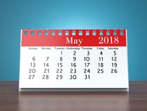 3D rendering calendar Stock Photos