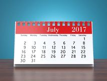 3D rendering calendar Royalty Free Stock Photo