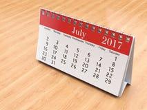 3D rendering calendar Royalty Free Stock Image