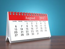 3D rendering calendar. 3D rendering flipchart desktop calendar for 2017 year Stock Photography