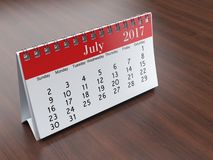 3D rendering calendar. 3D rendering flipchart desktop calendar for 2017 year Stock Images