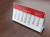 3D rendering calendar. 3D rendering flipchart desktop calendar for 2017 year Stock Photos