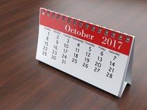 3D rendering calendar. 3D rendering flipchart desktop calendar for 2017 year Royalty Free Stock Photos