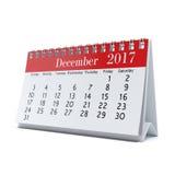 3D rendering calendar. 3D rendering flipchart desktop calendar for 2017 year Stock Image