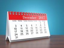 3D rendering calendar. 3D rendering flipchart desktop calendar for 2017 year Stock Photo