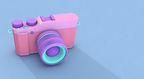 3d rendering camera. Illustration background Royalty Free Stock Photography