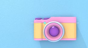 3d rendering camera. Illustration background Royalty Free Stock Photo