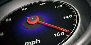 3d rendering car speedometer Stock Photography