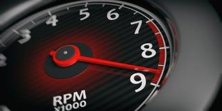 3d rendering car tachometer Royalty Free Stock Photos