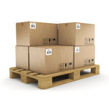 3D rendering cardboard box Royalty Free Stock Photo