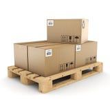 3D rendering cardboard box Stock Photos