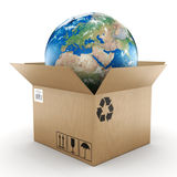 3D rendering cardboard box Royalty Free Stock Images