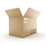 3D rendering cardboard box Stock Photography