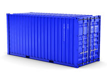 3D rendering  cargo container. On the white background Stock Photos
