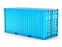 3D rendering  cargo container. On the white background Stock Photo