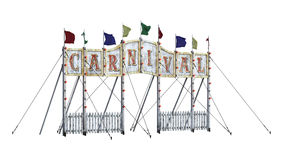 3D Rendering Carnival Entrance on White Royalty Free Stock Image
