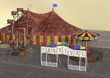 3D Rendering Carnival Royalty Free Stock Photo