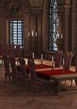 3D Rendering Castle Interior Stock Photo