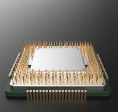 3d rendering of Central Computer Processors CPU  Royalty Free Stock Photos