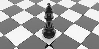 3d rendering chess king on a chessboard Royalty Free Stock Photo