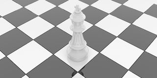 3d rendering chess king on chessboard Stock Photo
