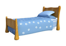3D Rendering Childs Bed on White. 3D rendering of a cute childs bed isolated on white background Royalty Free Stock Photo