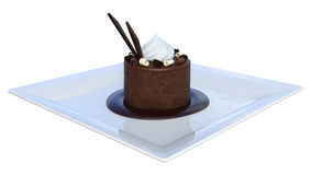 3D Rendering Chocolate Mousse on White Royalty Free Stock Photography