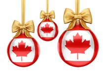 3D rendering Christmas ball with the flag of Canada vector illustration