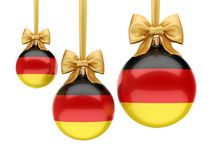 3D rendering Christmas ball with the flag of Germany Stock Photography